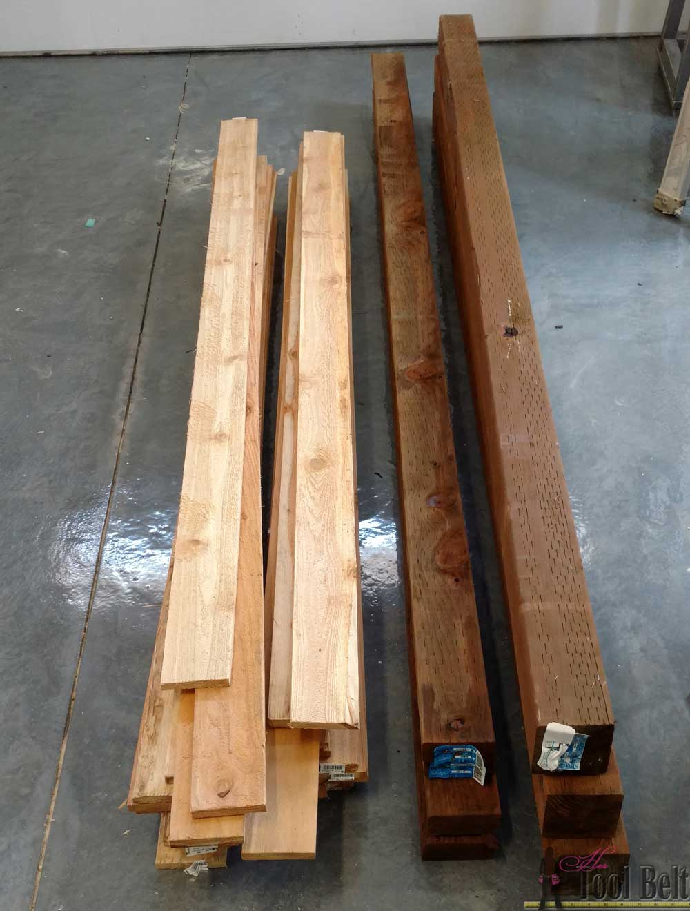 Wood louver a c unit screen her tool belt for Decorative louvers