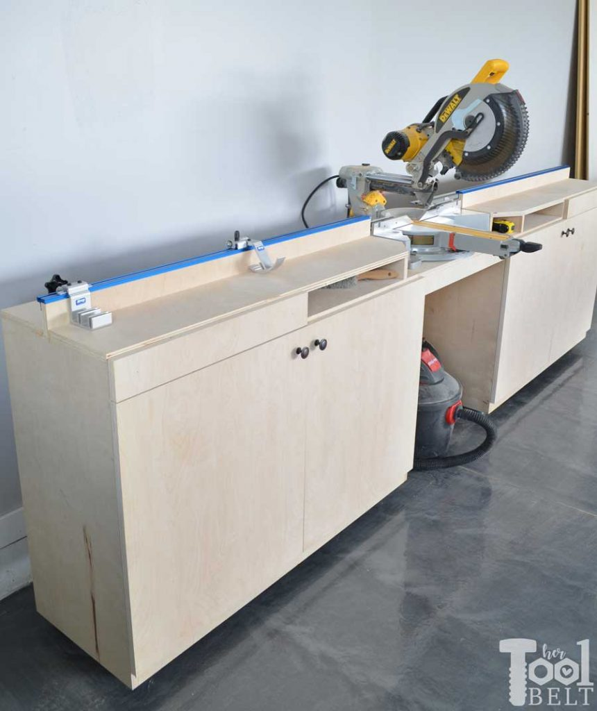 Mobile Miter Saw Station And Storage Her Tool Belt