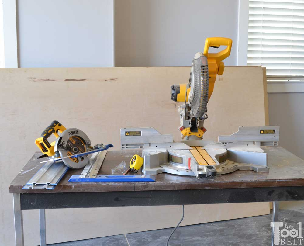 A Miter Saw Station With All The Bells And Whistles. There Is Plenty Of Work