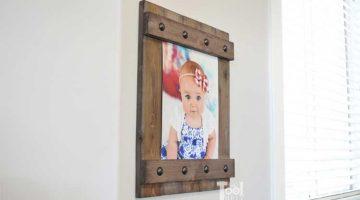 DIY Easy Farmhouse Style Frame