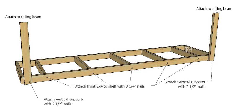 Overhead Garage Storage Shelf Her Tool Belt