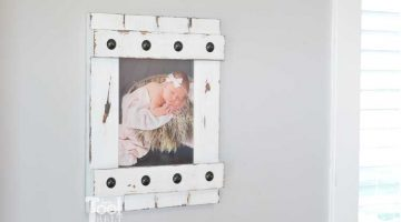 Easy Farmhouse Style Picture Frame 8×10