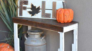 DIY Free Pallet Porch Table
