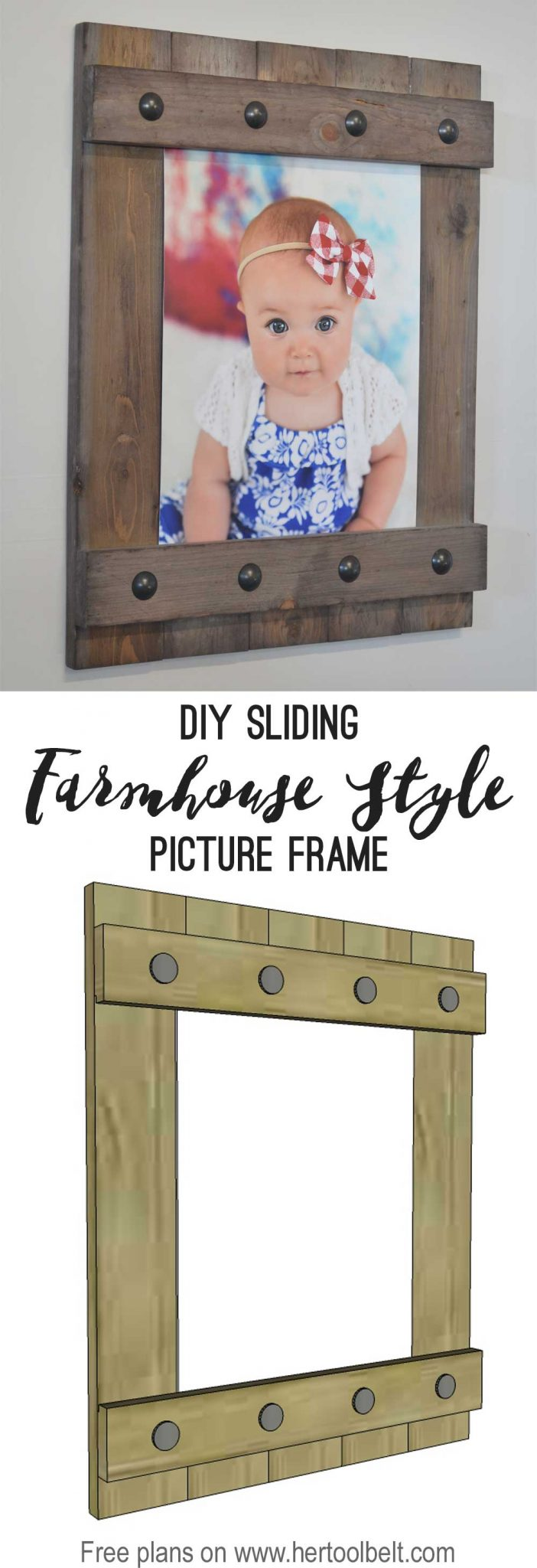 change out your photo prints super easy with a sliding farmhouse style frame make these - Diy Picture Frames
