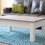 Farmhouse Coffee Table with Hidden Storage