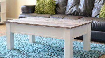 Farmhouse Coffee Table with Hidden Storage