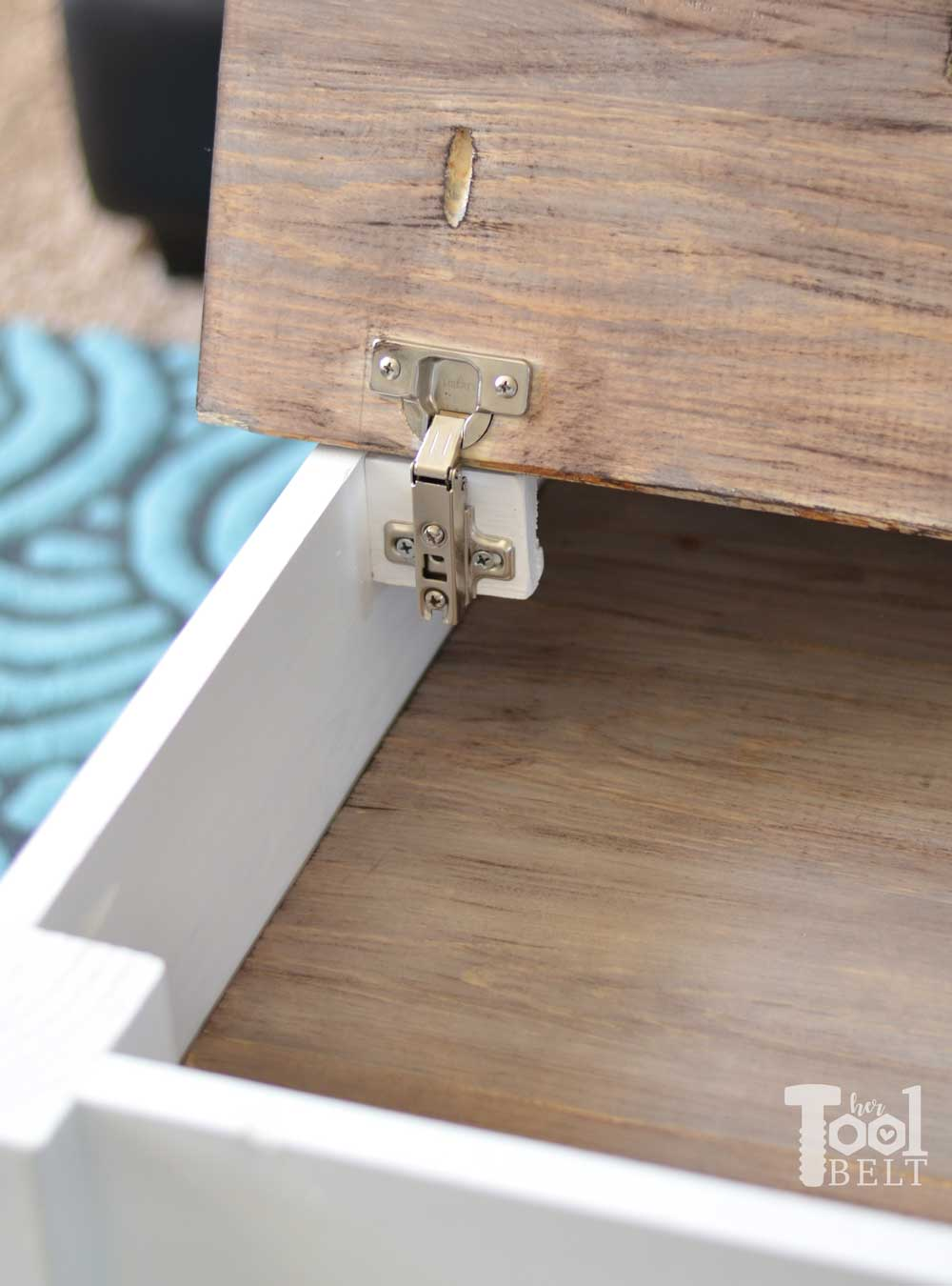 Farmhouse Coffee Table With Hidden Storage Her Tool Belt