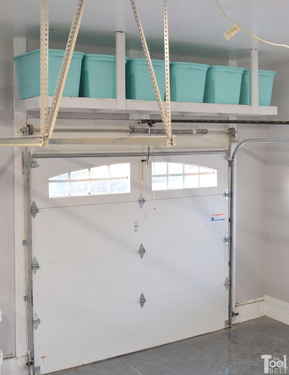 Overhead Garage Storage Shelf - Her Tool Belt