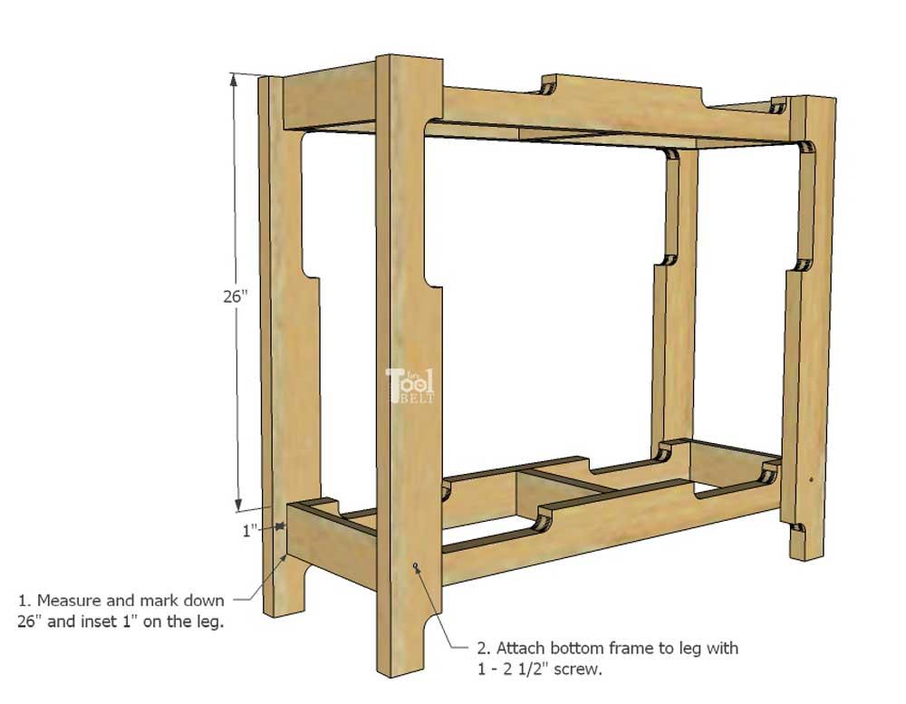 DIY Free Pallet Porch Table - Her Tool Belt