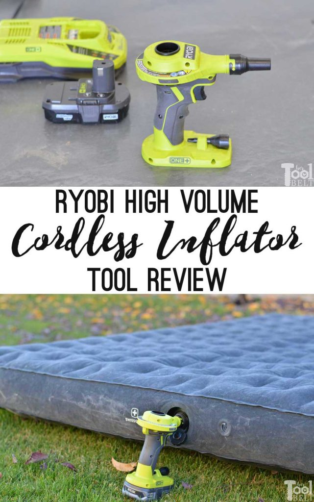 Ryobi high volume inflator tool review. Easy simple tool for blowing up air mattresses, pool toys, etc. Will also deflate items.