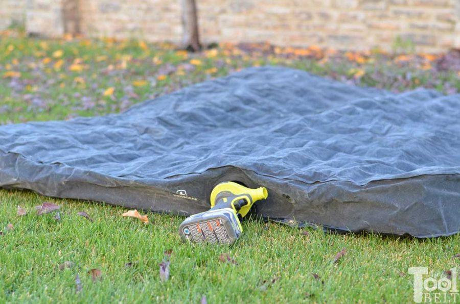 Ryobi high volume inflator tool review. Deflate air mattress.