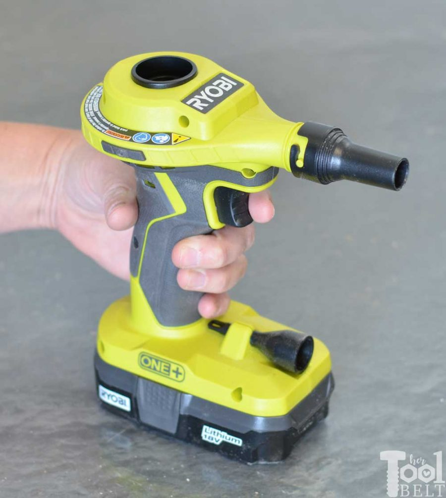 Ryobi high volume inflator tool review. Locking trigger.