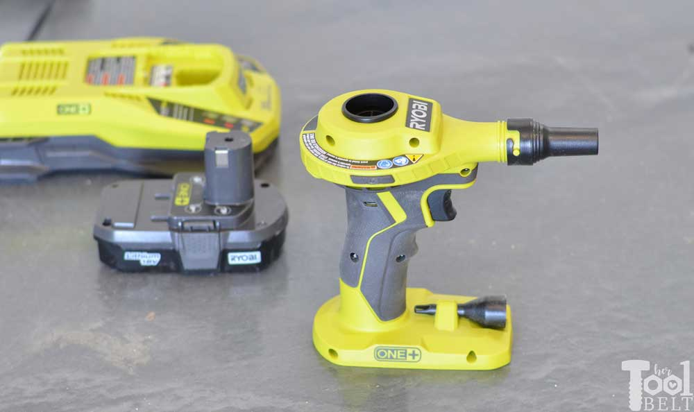 Tool Review: Ryobi 18v High Volume Power Inflator - Her Tool