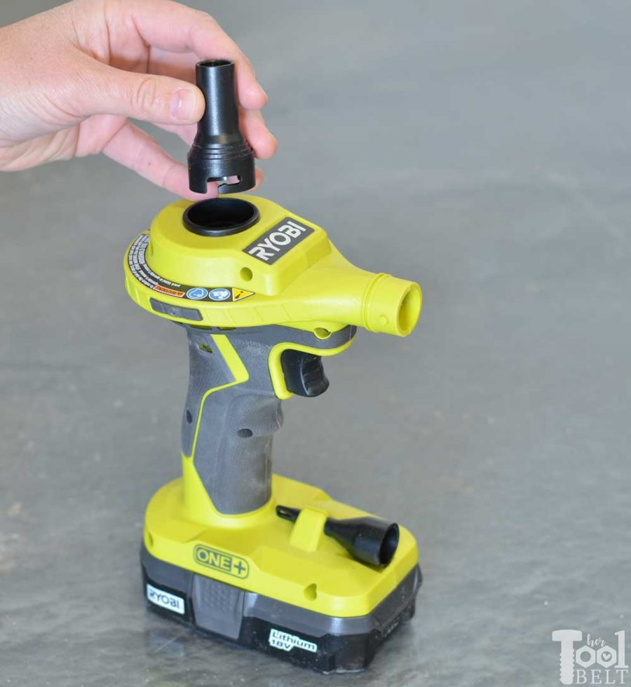 Ryobi high volume inflator tool review. Switch to deflate.