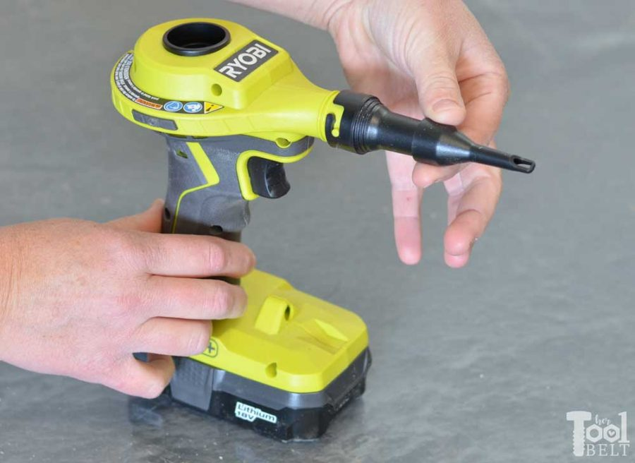 Ryobi high volume inflator tool review. Adapter for small pinch valves.