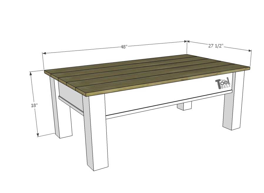 Coffee Table Plans.Farmhouse Coffee Table With Hidden Storage Her Tool Belt