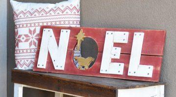 Handmade Wood Christmas Sign