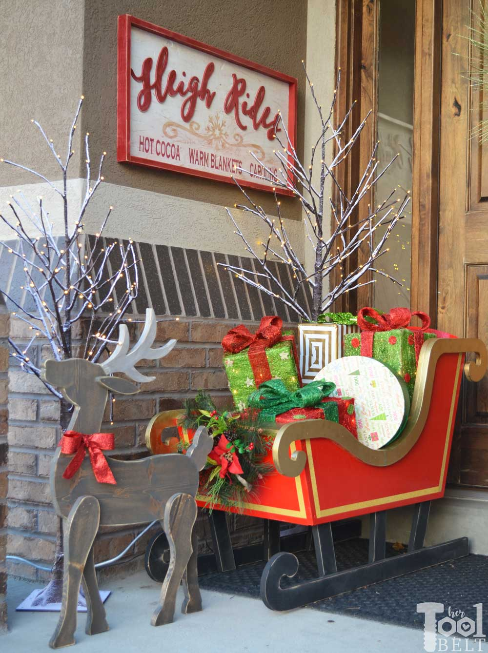 Sleigh Rides Wood Sign - Her Tool Belt