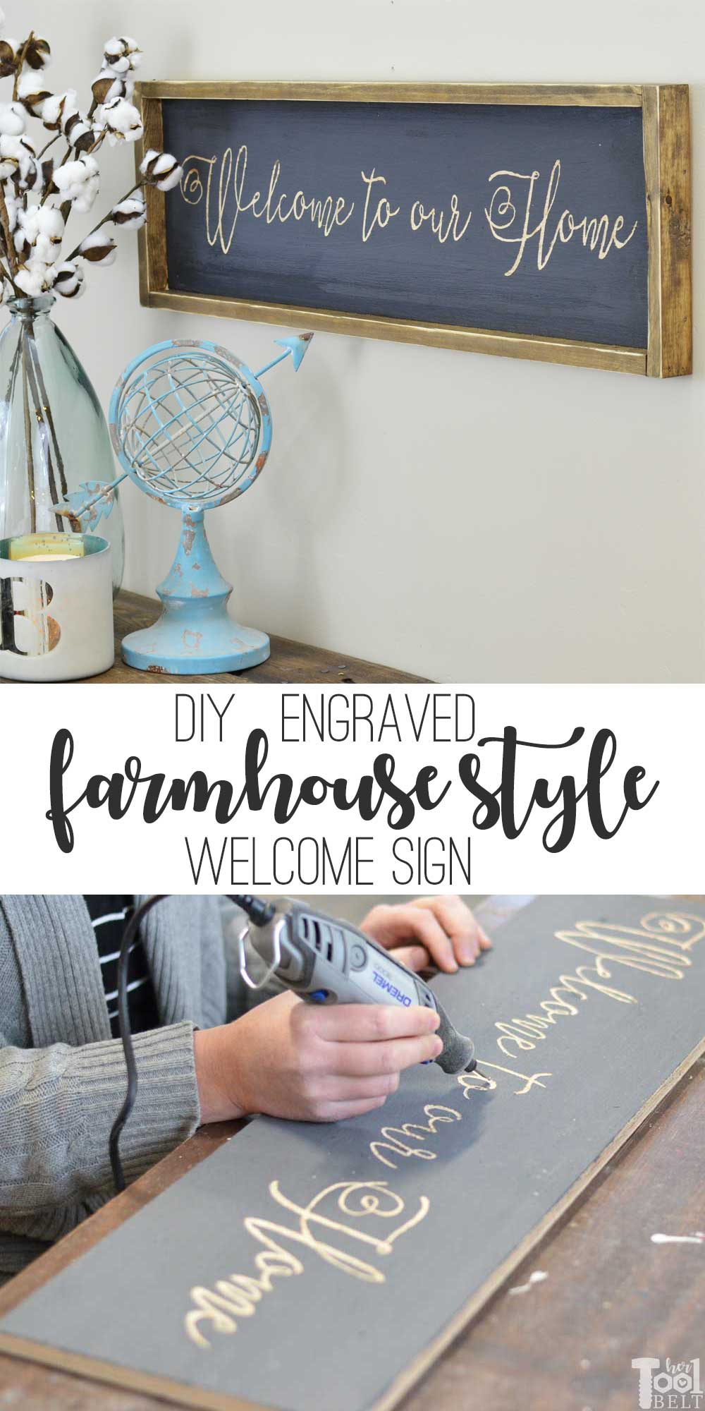 Welcome Farmhouse Sign - Her Tool Belt