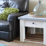 Zinc Top Farmhouse Side Table