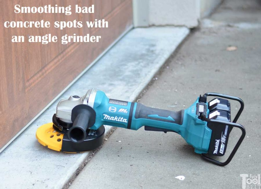 Smoothing out tripping hazards and bad concrete areas is easier than I thought. Garage floor grinding using a Makita angle grinder and diamond cup wheel.