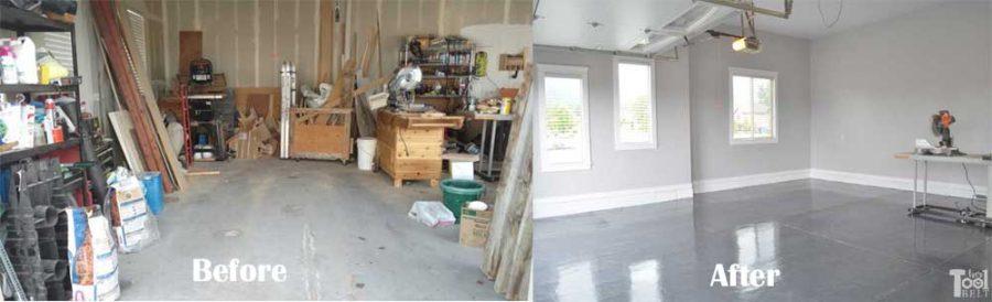 Garage makeover progress!