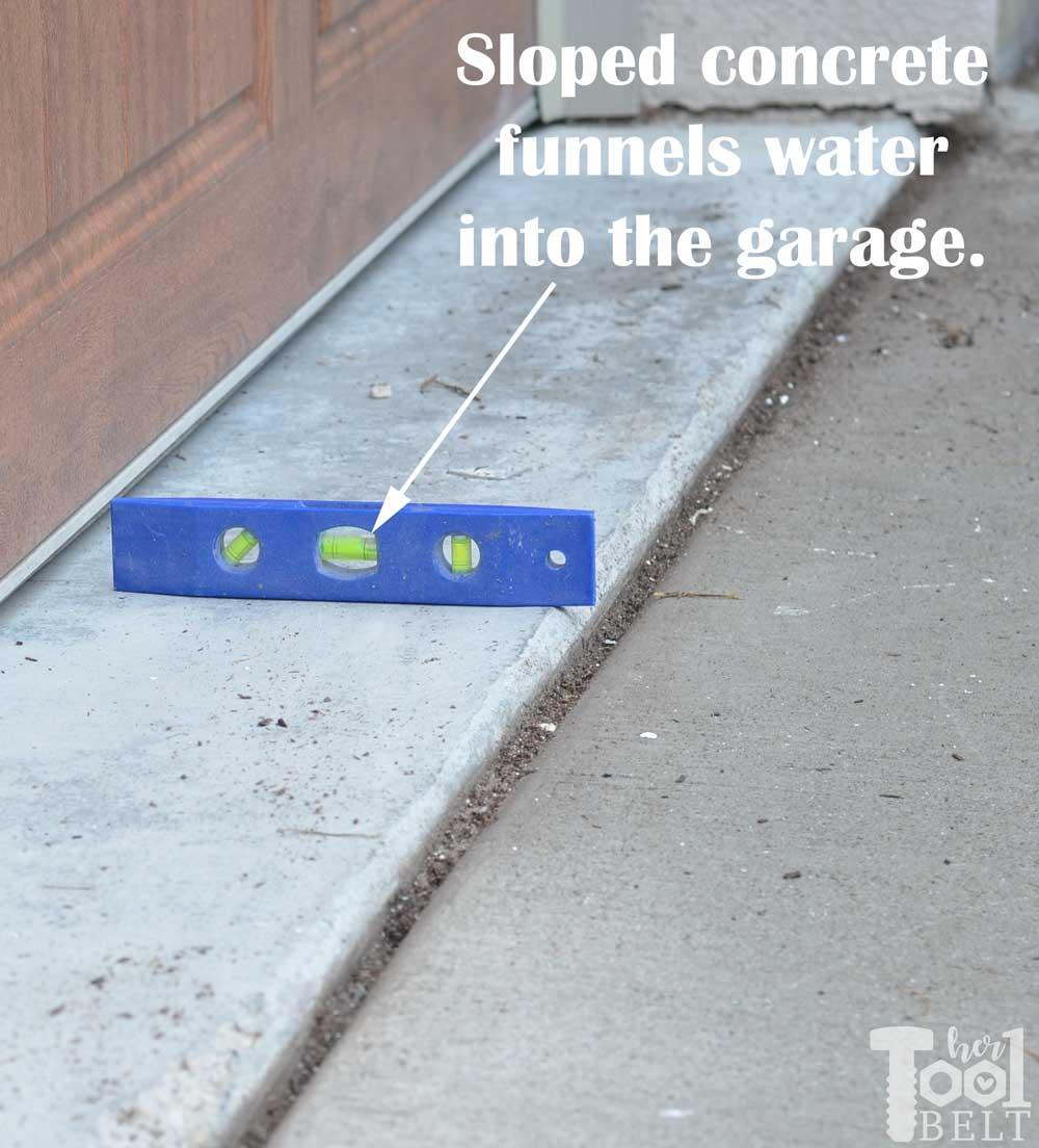 Water Problem - Garage Floor Grinding - Her Tool Belt