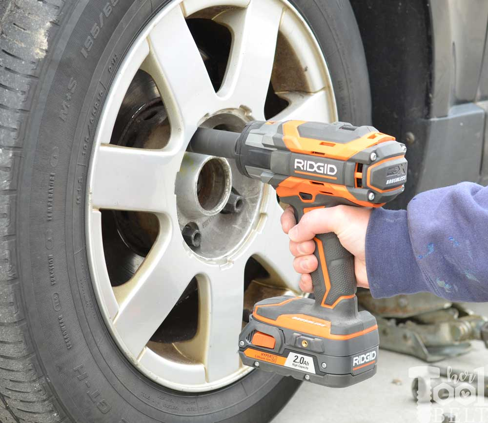 Use The Ridgid Impact Wrench To Make Changing A Car Tire Quick And Easy