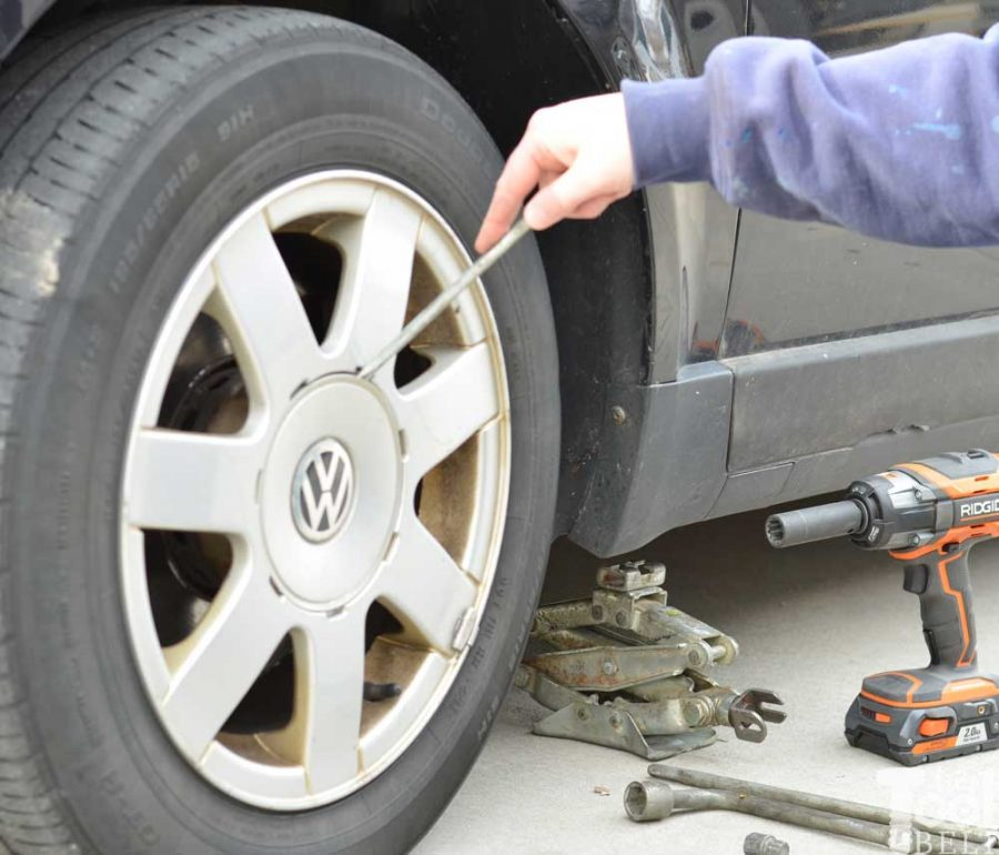 A few tips to make changing a car tire quick and easy.