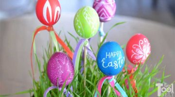 Easter Egg Decor with Engraved Eggs