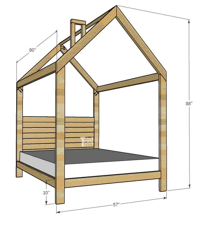 House frame bed full size her tool belt for House bed frame plans