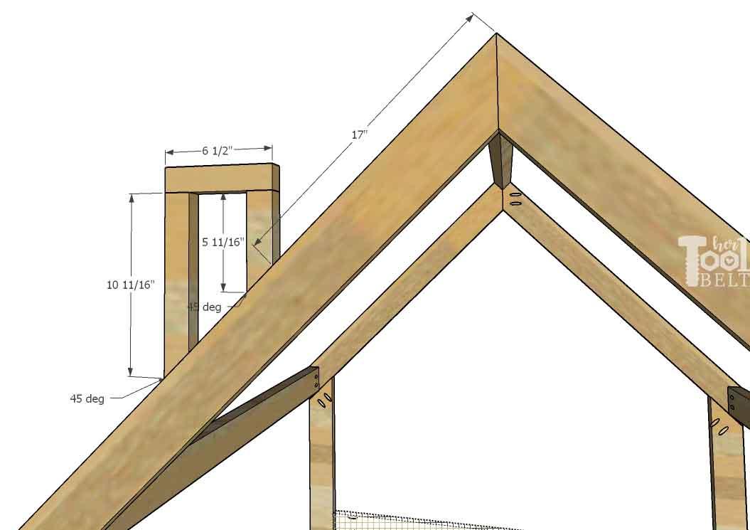 House Frame Bed - Full Size - Her Tool Belt