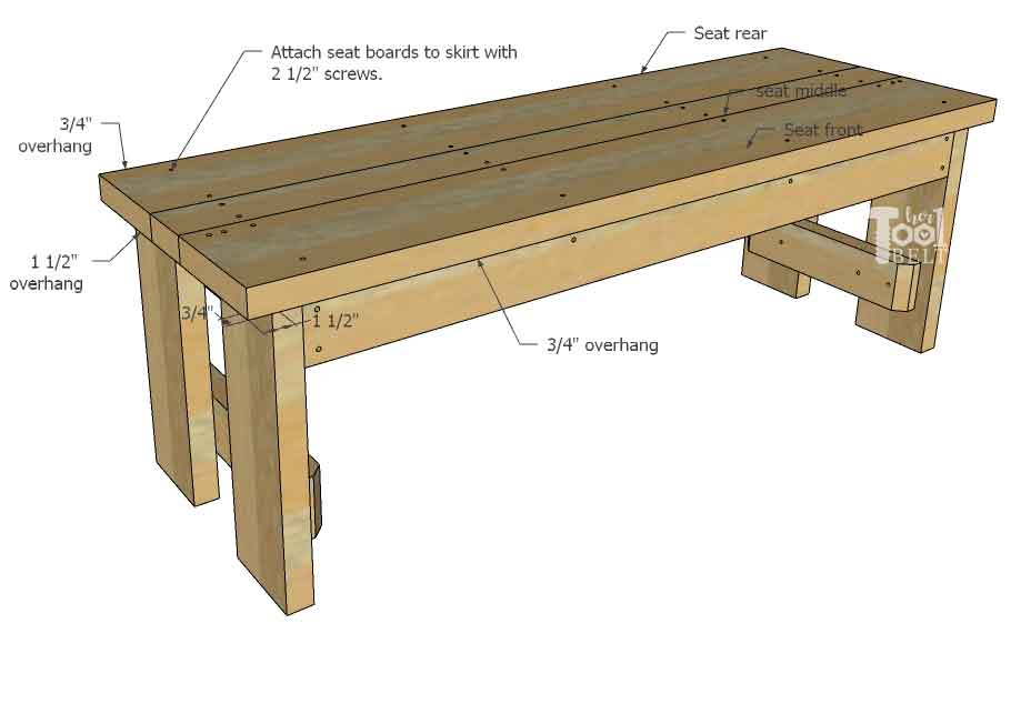 Stupendous Diy Wood Bench With Back Plans Her Tool Belt Gmtry Best Dining Table And Chair Ideas Images Gmtryco