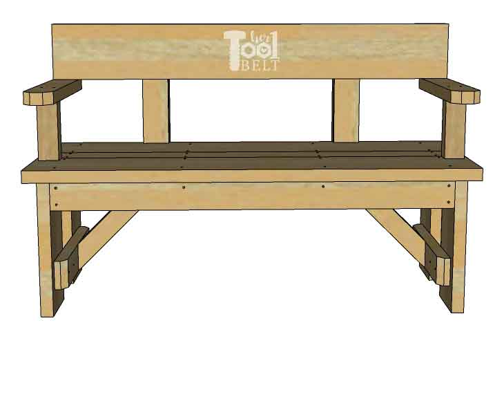 Awesome Diy Wood Bench With Back Plans Her Tool Belt Gmtry Best Dining Table And Chair Ideas Images Gmtryco