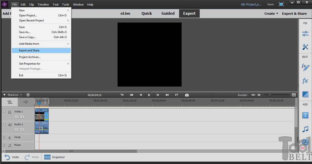 Create square video with premiere elements her tool belt how to create square video with premiere elements for instagram ccuart Image collections