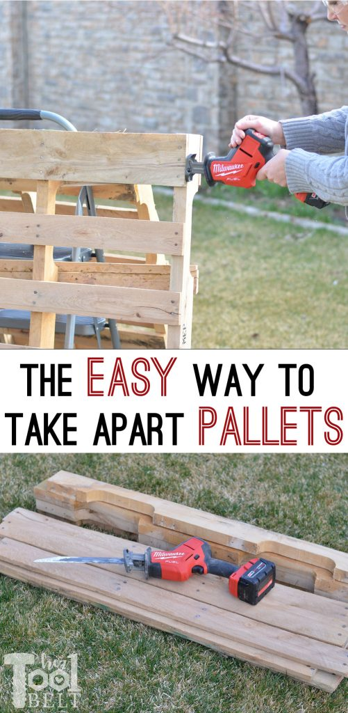 The easy way to take apart pallets and save the nail holes. It only takes a few minutes to dismantle the pallets. Great for any rustic project.