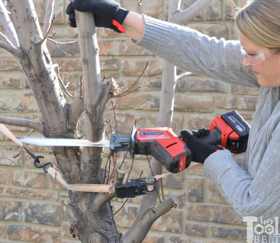 Hackzall and wrecker blade make pruning trees a breeze.