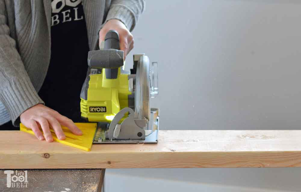 Brilliant Wood Bench Cut Boards Circular Saw Her Tool Belt Ocoug Best Dining Table And Chair Ideas Images Ocougorg