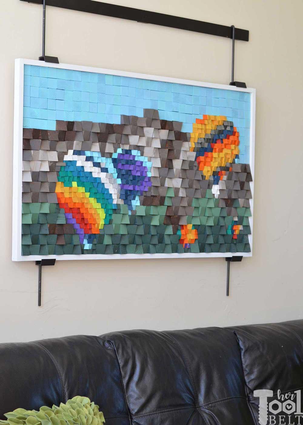 3D-wood-block-art-balloon-festival Pixel Art Painting @koolgadgetz.com.info