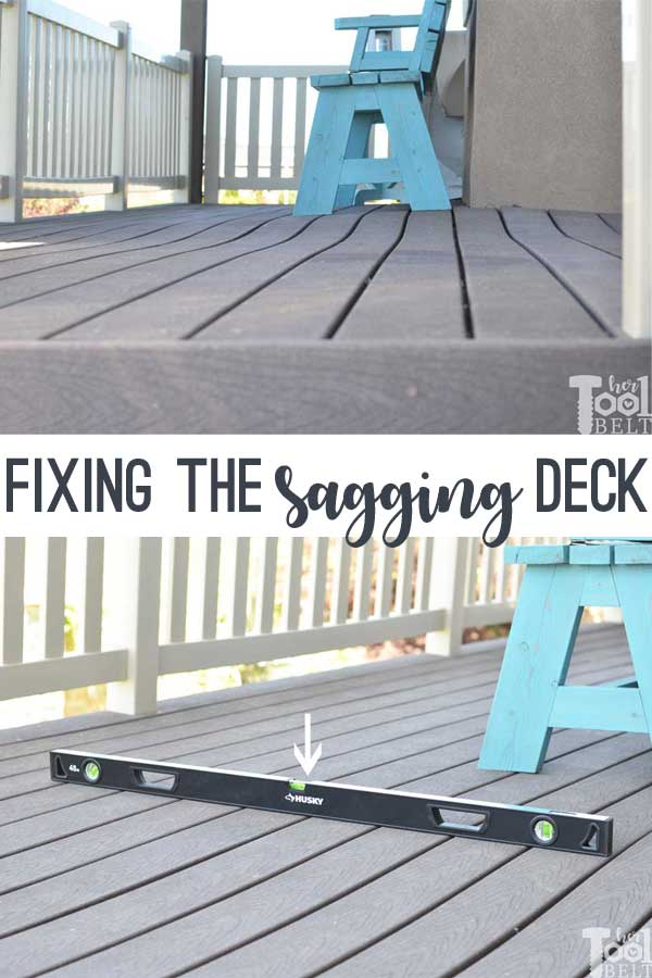 My deck was sagging so much. How I fixed it to make it level!