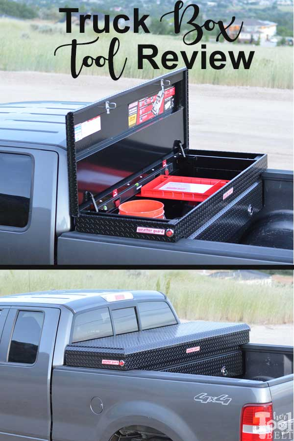 Perfect way to haul smaller things around securely. Weather Guard black truck box (extra wide) tool review.