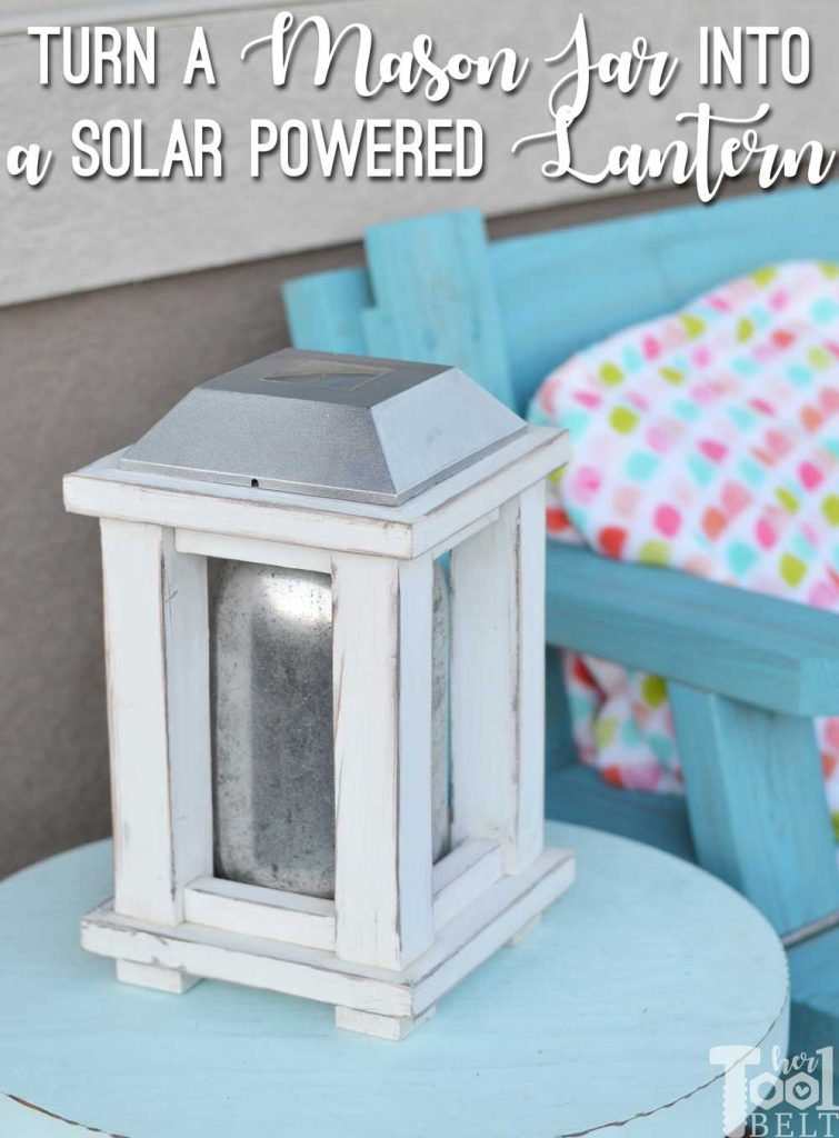 Turn a plain mason jar into a unique mercury glass mason jar lantern.  Great way to use old broken landscaping solar lights.