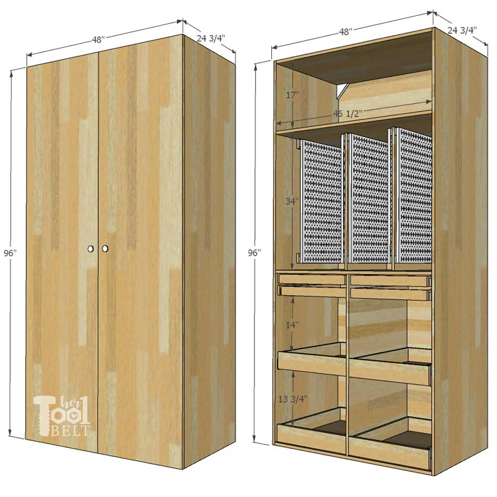 How to Build a Hand Tool Storage Cabinet for the Garage  sc 1 st  Her Tool Belt & Garage Hand Tool Storage Cabinet Plans - Her Tool Belt