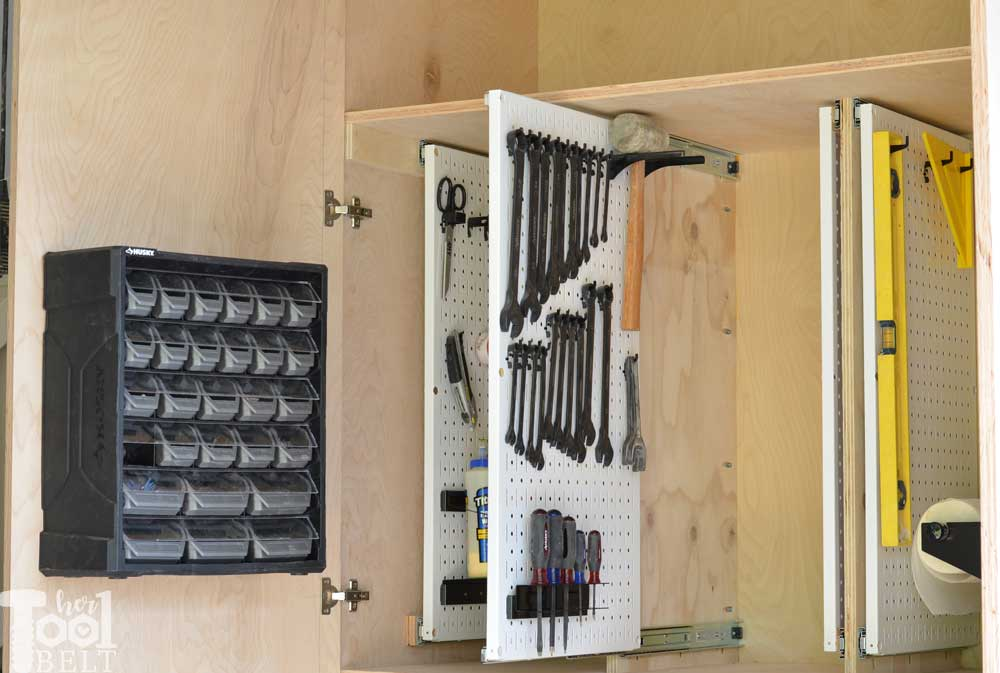 Garage Hand Tool Storage Cabinet Plans Her Tool Belt