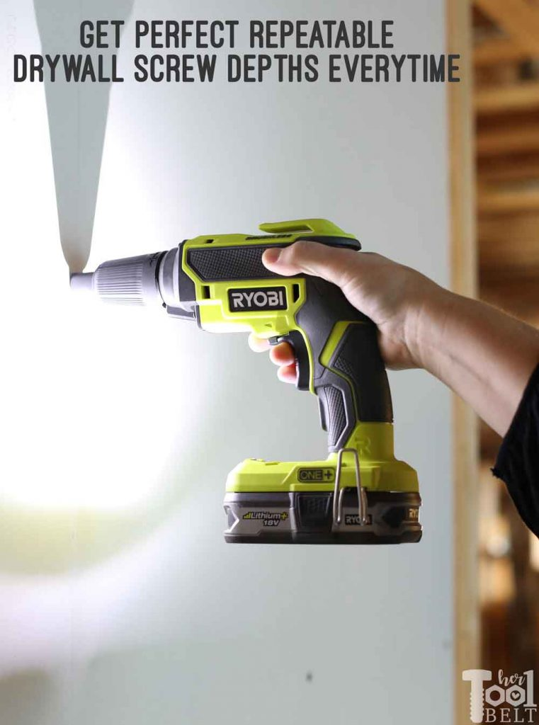 Gone are the days of accidentally sending the screw halfway through the drywall sheet. Another cool tool, Ryobi drywall screw gun tool review.