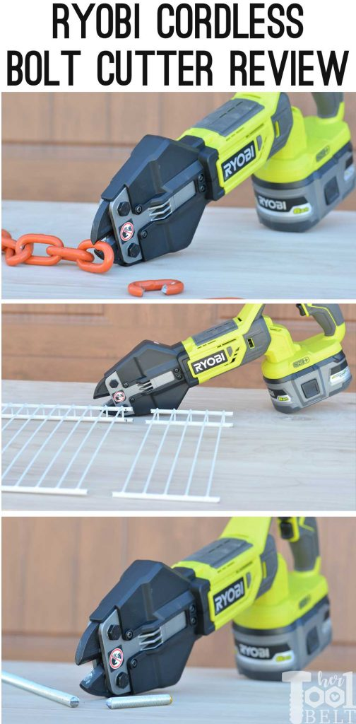 Ryobi cordless bolt cutter review. Great tool to cut chain, wire shelving, bolts, etc.