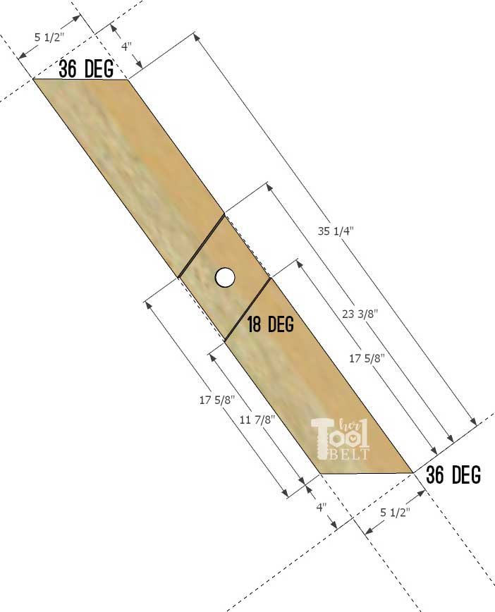 Super Chunky X Table free plans - X leg dimensions