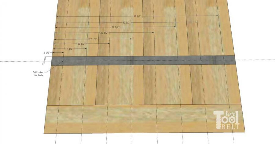 Super Chunky X Table free plans - inlay hole dimensions