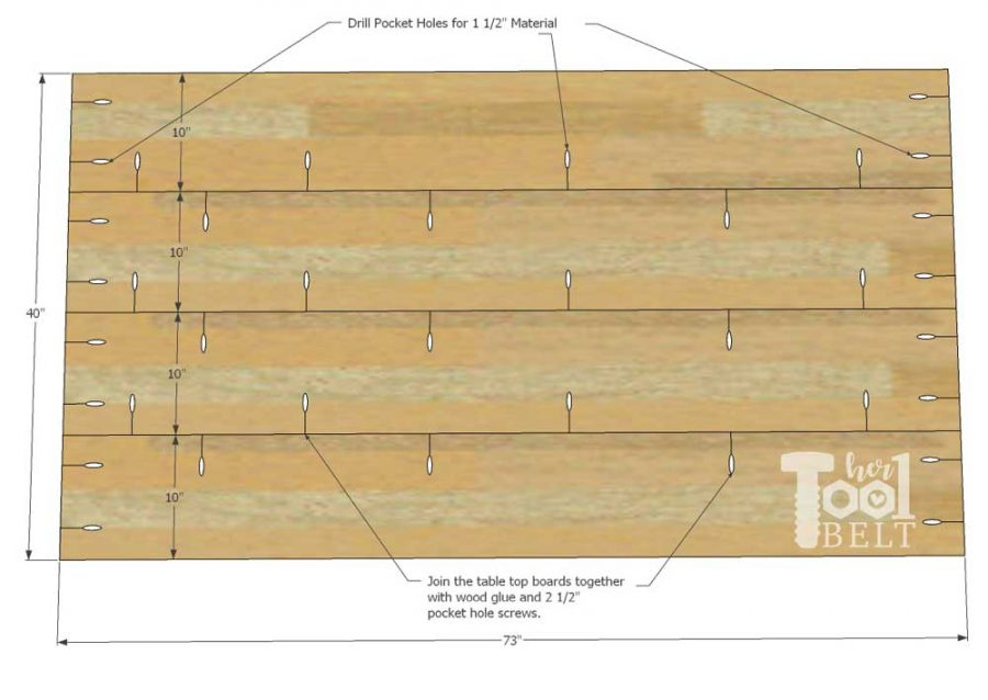 Super Chunky X Table free plans - join table top