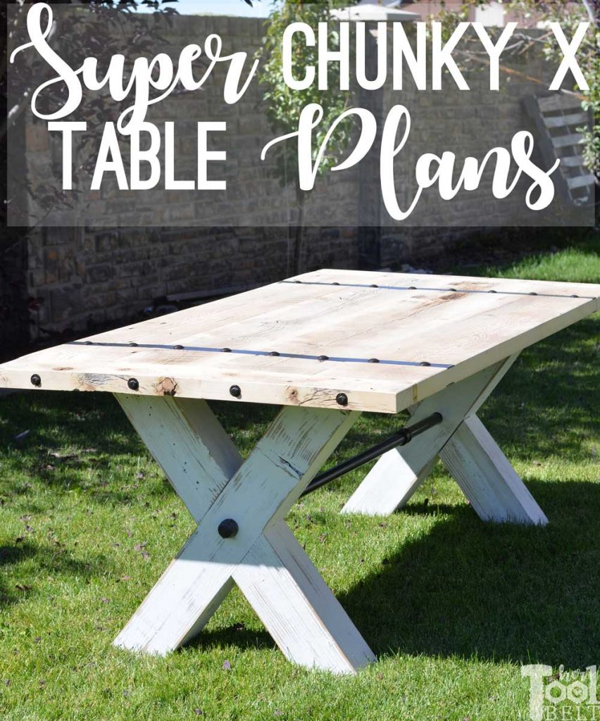 Super Chunky X Table free plans - build a table with some wow!